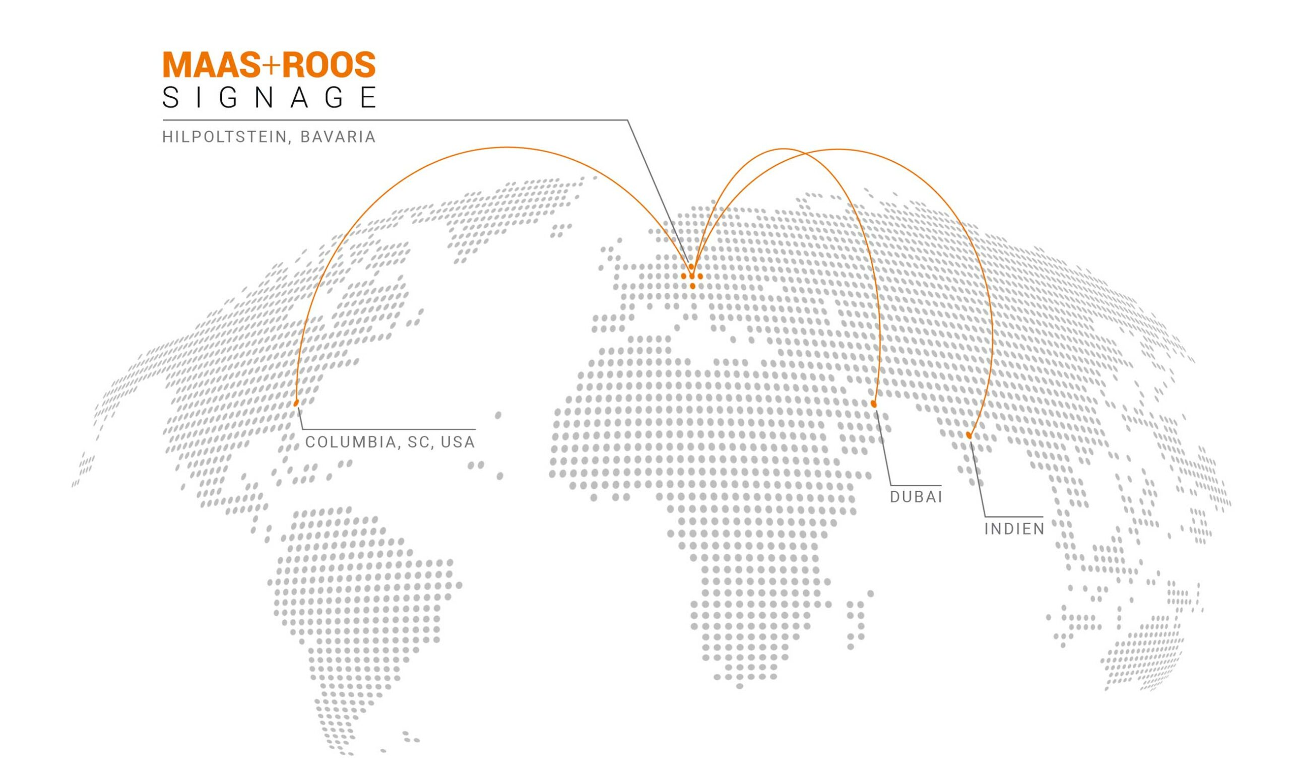 Illustrative presentation of the Maasroos network